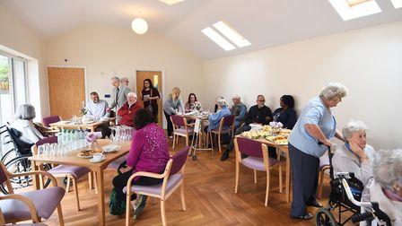 The Dell Residential Care Home opens a new day room. Picture : ANTONY KELLY
