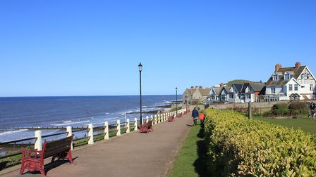 Sheringham seen from the clifftops above the central beach.Photo: KAREN BETHELL