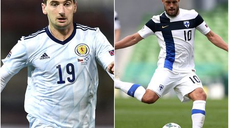 Kenny McLean and Teemu Pukki have been named in the Scotland and Finland squads respectively. Pictur