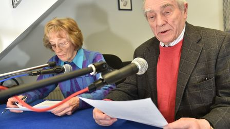 Volunteers at Chatterbox, the Norwich Talking Newspaper, recording its 2,000th edition in 2018. Pict