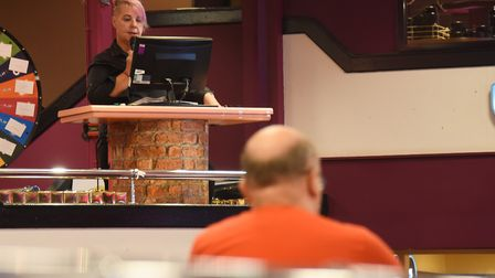 Julie Culley, mainstage caller at the Mecca Bingo. Picture: DENISE BRADLEY