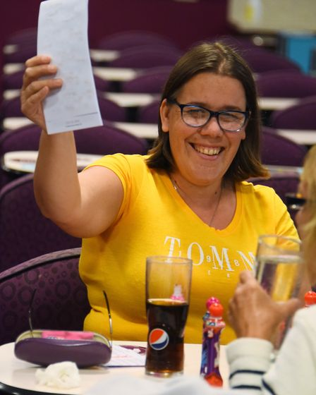 Tracey Sewell wins a game at the Mecca Bingo. Picture: DENISE BRADLEY