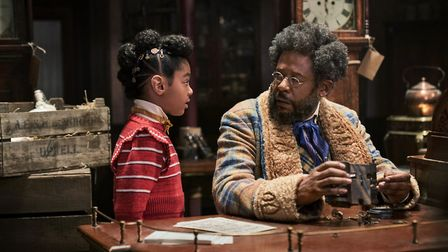 JINGLE JANGLE: A CHRISTMAS JOURNEY (2020) - Madalen Mills as Journey Jangle and Forest Whitaker as J