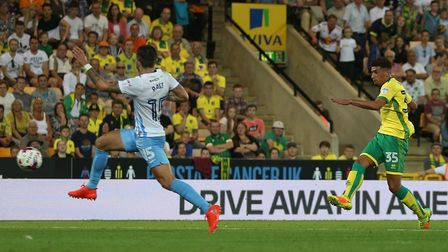 Godfrey scored on his Norwich City debut against Coventry City in 2016. Picture: Paul Chesterton/Foc