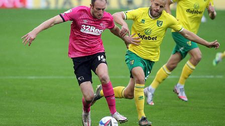 Teemu Pukki missed a penalty as Norwich City were beaten 1-0 by Derby County. Picture: Paul Chestert