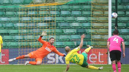 Teemu Pukki's penalty slip proved costly in Norwich City's 1-0 Championsip defeat to Derby Picture:
