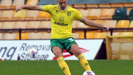Ben Gibson made his Norwich City debut but couldn't prevent a 1-0 defeat to Derby at Carrow Road Pic