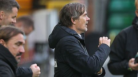 Derby County manager Phillip Cocu savours a first Championshhip win of the season at Norwich City Pi