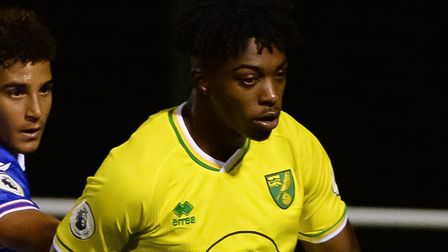 Tyrese Omotoye was on target as Norwich City U23s beat Fulham U23s at Craven Cottage Picture: Norwic