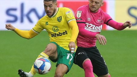 Emi Buendia returned for Norwich City against Derby County Picture: Paul Chesterton/Focus Images