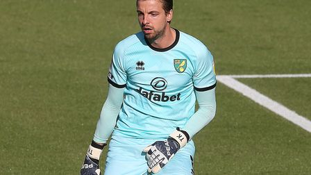 Tim Krul has remained with Norwich City after relegation to the Championship Picture: Paul Chesterto