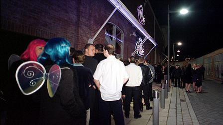 Queues for Time nightclub on Riverside in Norwich. Picture Natasha Lyster.
