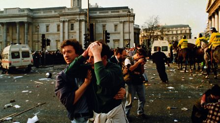 Protests surrounding the Poll Tax. Photograph: PA Archive/PA Images.