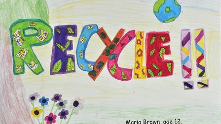 Local school children have taken part in an art competition to design signs to promote recycling.