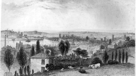 """This """"Prospect of Ipswich"""" from the 1830s is included in the new Ipswich Maritime Trust Window Museu"""