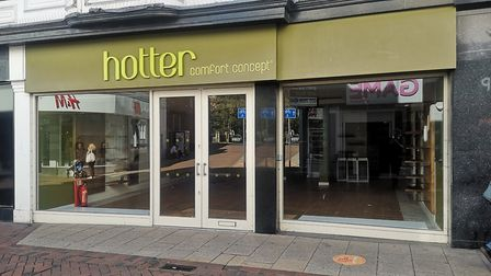 The Hotter Shoes shop in Tavern Street, Ipswich. Customers have been told it has now closed permanen
