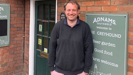 Dan Lightfoot is the landlord at the Greyhound pub in Ipswich, a tenant of Adnams brewery. Picture: