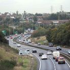 Police were called to a collision on the A14 at the Copdock Interchange this morning Picture: ARCHAN