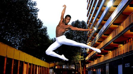 English National Ballet dancer Shevelle Dynott, photographed in South London for inclusion in the 'B