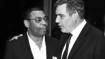 Ipswich photographer John Ferguson with the then prime minister Gordon Brown at the openning of the