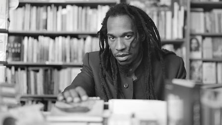 Benjamin Zephaniah photographed in London for inclusion in the 'Black Britannia' photographic exhibi