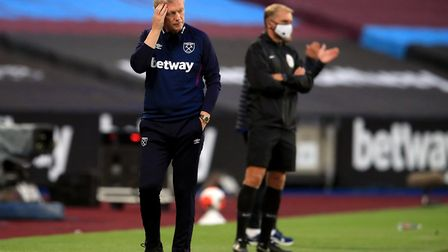 West Ham United manager David Moyes on the touchline during the Premier League match against Chelsea