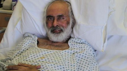 Anil Patel has been discharged after 149 days, just shy of six months, on a coronavirus ward - one o