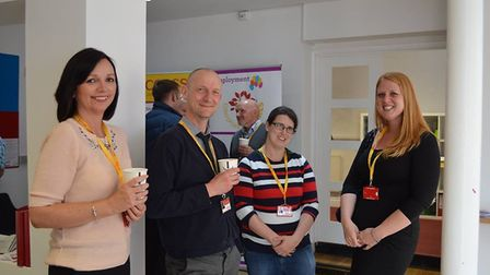 Alison Arnold, Richard Gallard, Mary-Lou Owen and Beth Stephens from Access Community Trust at the r