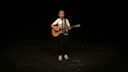 Lowestoft's Got Talent finalist Olly Hitcham performs for the judges