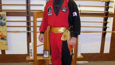 Johnny Johnson, who is celebrating 40 years of teaching Chinese Kempo Gung-Fu. Picture: Colin Meache