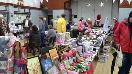 A scene from the Waveney Carers and Friends Circle Christmas Bazaar which was a success when previou