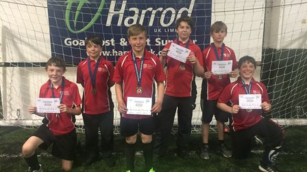 Ormiston Denes Academy pupils who took part in the all-inclusive football event in Lowestoft. Pictur