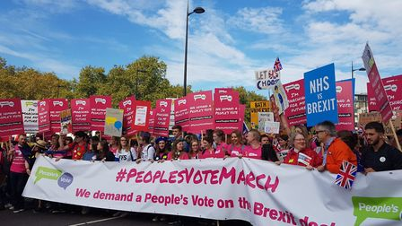 The People's Vote march has started. Photo: Jono Read
