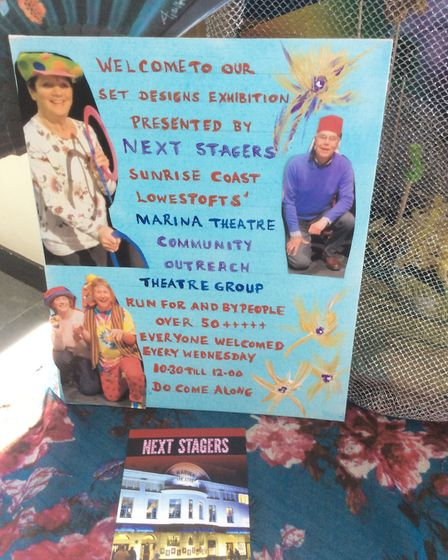 The Next Stagers theatre group for the over 50s in Lowestoft have been working with artist Genevieve