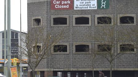 The closure of Battery Green multi storey car park in Lowestoft. Pictures: MICK HOWES