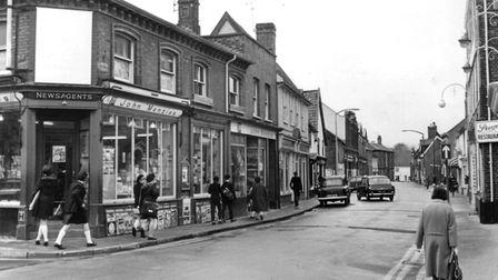 Shops in Smallgate, Beccles, taken in April 1968. Picture: Archant library.