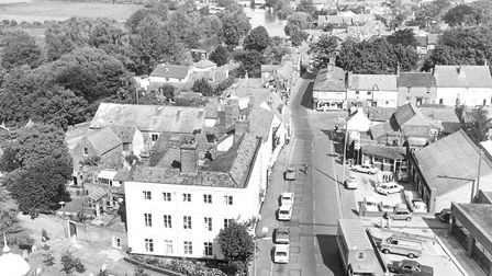 Beccles from the top of the church tower. Date unknown. Picture: Archant library.