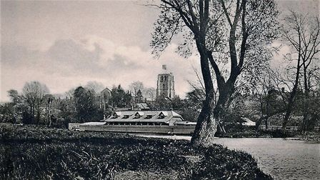 Beccles swimming place, 1910. Photo: Courtesy of Peter Waller