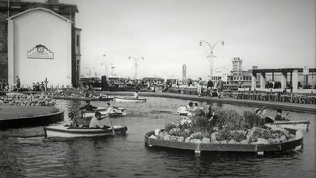 Boating lake, late 1950's. Photo: Courtesy of Peter Waller