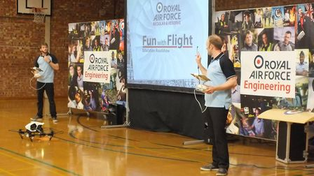 RAF Fun with Flight Roadshow presented to year 8 and 9 students over two roadshows. Picture: Julie D
