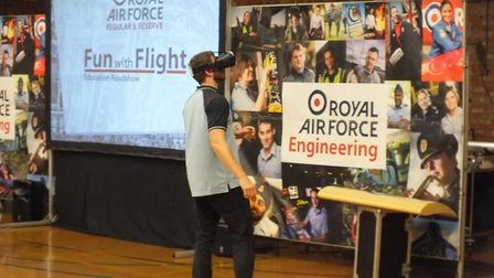 VR headset; useful tech for training pilots. Picture: Julie Durrant