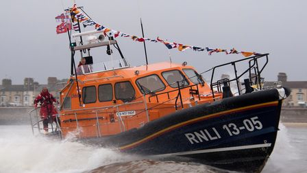 Lowestoft's Shannon class lifeboat the Patsy Knight.