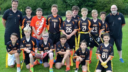 Waveney American Football Youth Flag Football Tournament. The U12s. Pictures: Mick Howes