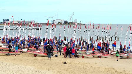 Over 150 young sailors descended on Lowestoft for the event. Photo: Mick Howes