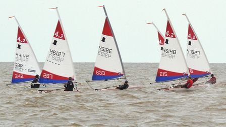 There was one race for novices and one for more experienced sailors. Photo: Mick Howes