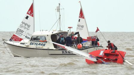 Action from the weekend's dinghy racing.. Photo: Mick Howes