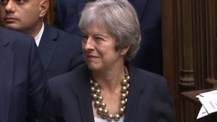 May in the House of Commons as it debates Brexit.
