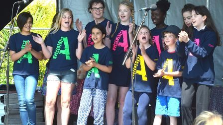 The Group A choir perform at the 2016 Lowestoft Summer Festival. Picture: Mick Howes