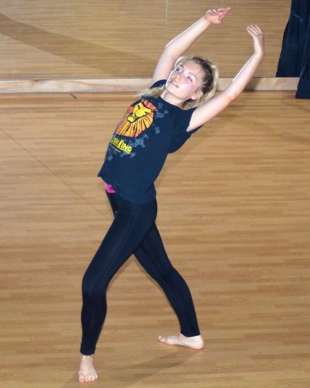 A dancer performs at Pakefield High School's Creatifest. Photo: Mick Howes.