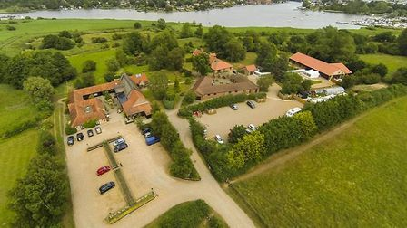An aerial picture of Ivy House Country Hotel. Picture: IVY HOUSE